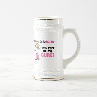 Orgulloso ser figura calva del palillo del cáncer  tazas de café