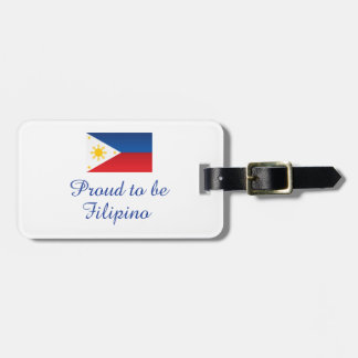 Orgulloso ser filipino 1 etiqueta para equipaje