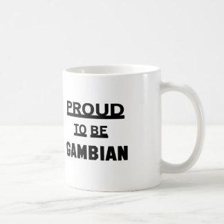 Orgulloso ser gambiano taza de café