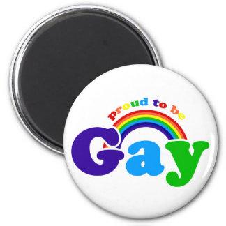 Orgulloso ser gay para el orgullo gay y las derech imán de frigorifico