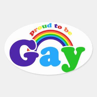 Orgulloso ser GAY Pegatina Ovalada