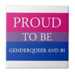 Orgulloso ser Genderqueer y BI Azulejo Ceramica