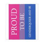 Orgulloso ser Genderqueer y BI Libretas Para Notas