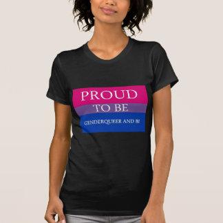 Orgulloso ser Genderqueer y BI Camiseta