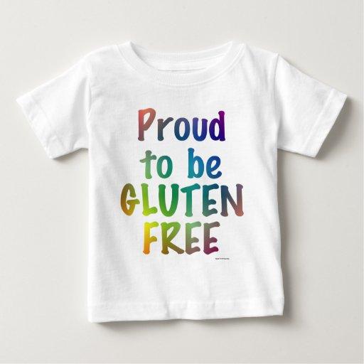 Orgulloso ser gluten libere playera para bebé
