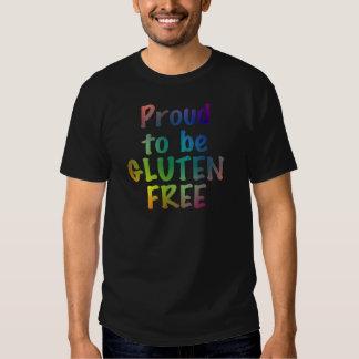 Orgulloso ser gluten libere playeras