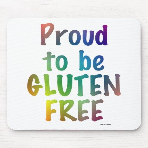 Orgulloso ser gluten libere tapete de raton
