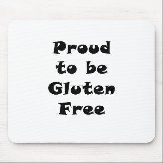 Orgulloso ser gluten libere alfombrillas de ratones