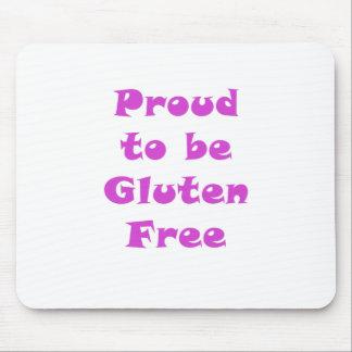 Orgulloso ser gluten libere tapetes de ratones