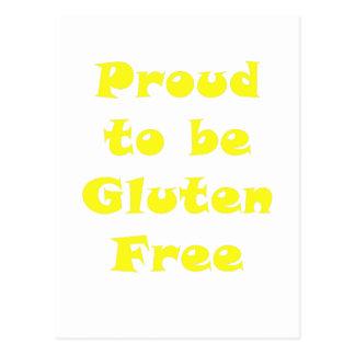 Orgulloso ser gluten libere postales