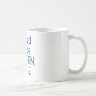 Orgulloso ser gluten libere taza de café