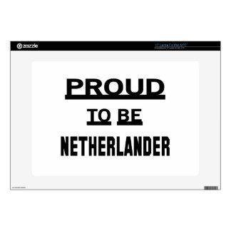 Orgulloso ser holandés calcomanía para 38,1cm portátil