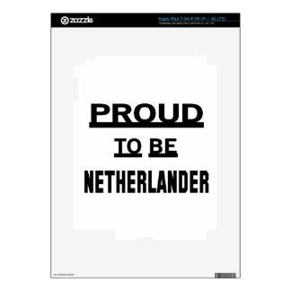 Orgulloso ser holandés iPad 3 pegatinas skins
