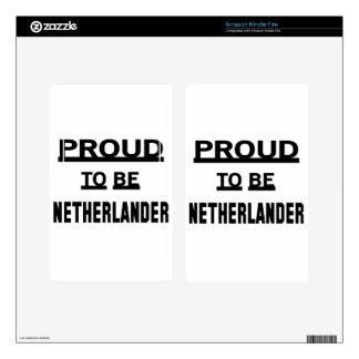 Orgulloso ser holandés pegatinas skins para kindle fire