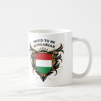 Orgulloso ser húngaro taza básica blanca