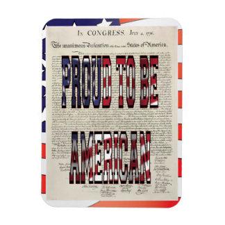 Orgulloso ser imán flexible americano