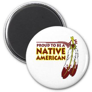 Orgulloso ser indio del nativo americano imán redondo 5 cm