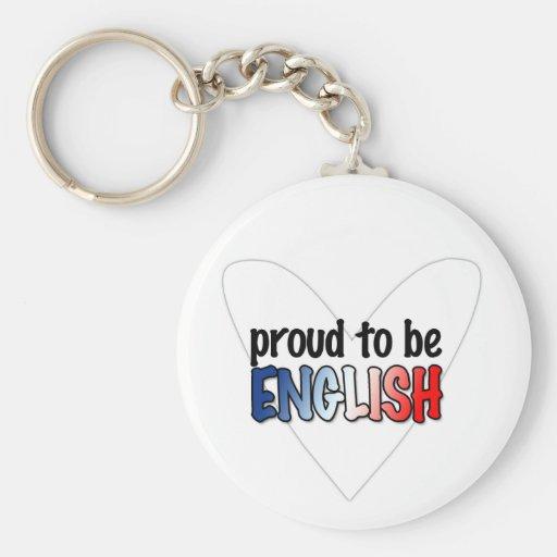 Orgulloso ser inglés - llavero