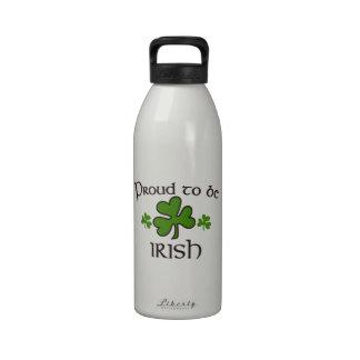 Orgulloso ser irlandés botella de agua
