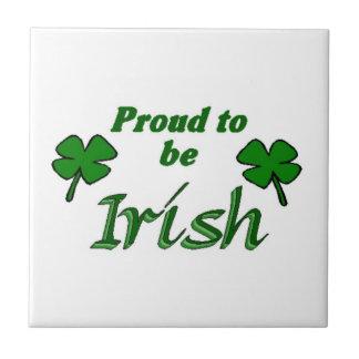 Orgulloso ser irlandés teja  ceramica