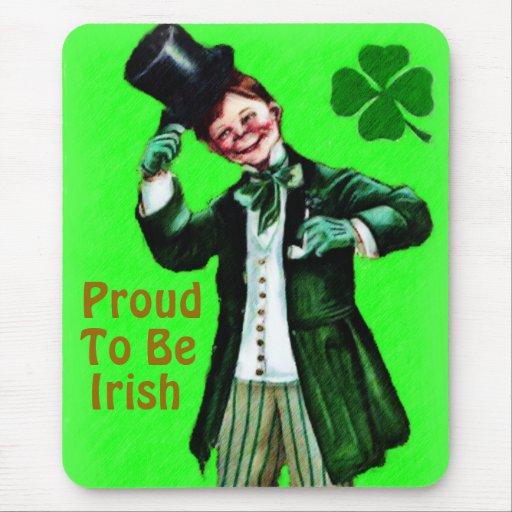 Orgulloso ser irlandés Mousepad Tapete De Ratón