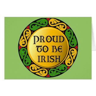 Orgulloso ser irlandés felicitaciones