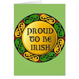 Orgulloso ser irlandés tarjeta