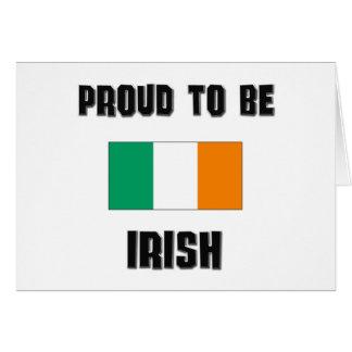 Orgulloso ser IRLANDÉS Tarjetón
