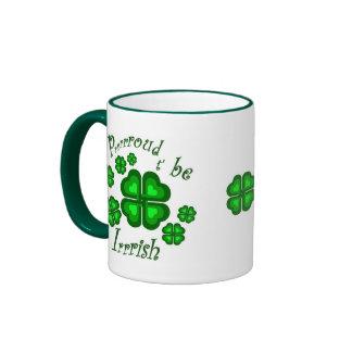 Orgulloso ser irlandés taza de dos colores