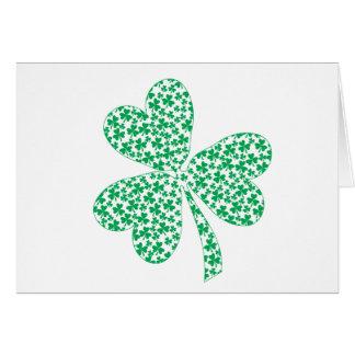 Orgulloso ser irlandés - trébol del St Pattys Tarjeton