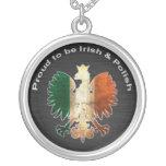 Orgulloso ser irlandés y polaco joyerias personalizadas