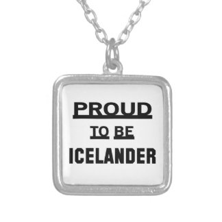 Orgulloso ser islandés colgante cuadrado