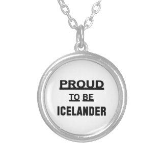 Orgulloso ser islandés colgante redondo