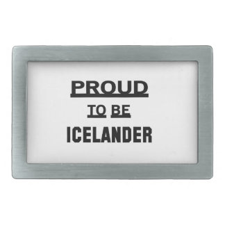 Orgulloso ser islandés hebilla de cinturón rectangular