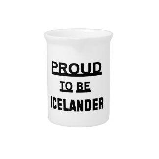 Orgulloso ser islandés jarra de beber