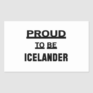 Orgulloso ser islandés pegatina rectangular