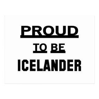 Orgulloso ser islandés postal