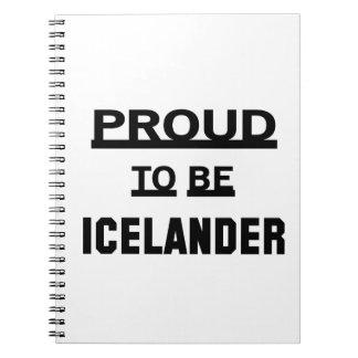 Orgulloso ser islandés spiral notebook