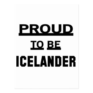 Orgulloso ser islandés tarjeta postal