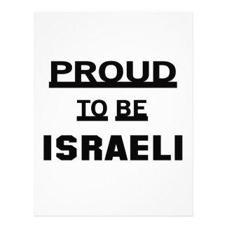 Orgulloso ser israelí membrete personalizado