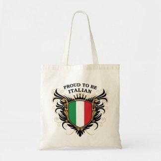 Orgulloso ser italiano bolsa tela barata