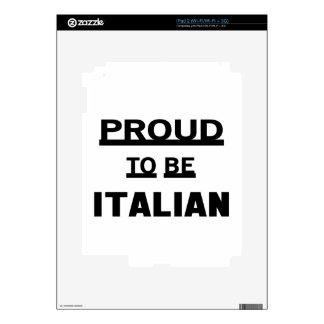 Orgulloso ser italiano iPad 2 calcomanías