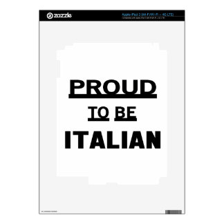 Orgulloso ser italiano iPad 3 skin