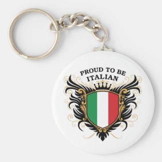Orgulloso ser italiano llavero redondo tipo pin