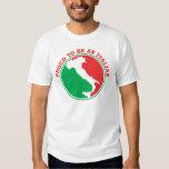 Orgulloso ser italiano playeras