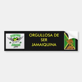 Orgulloso ser jamaicano (estilo español) pegatina para auto