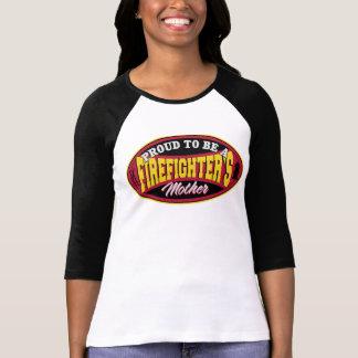 Orgulloso ser la madre de un bombero camisetas