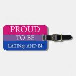 Orgulloso ser Latin@ y BI Etiqueta Para Equipaje