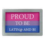 Orgulloso ser Latin@ y BI Hebilla De Cinturón Rectangular