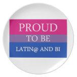 Orgulloso ser Latin@ y BI Platos Para Fiestas